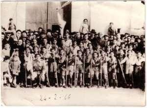 Il gruppo scout di Canicattini nel 1946