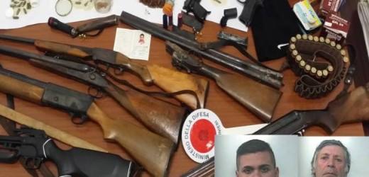 Detenevano illegalmente un vero e proprio  arsenale tra fucili, pistole e munizioni, arrestati ad Avola nonno e nipote