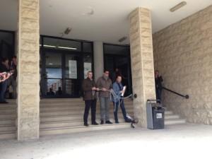 I tre consiglieri davanti al Tribunale