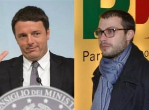 Matteo Rnzi e Fausto Raciti