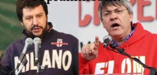 Salvini e Landini. Una e la stessa è la via all'insù e la via all' ingiù