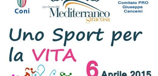 """""""Uno sport per la VITA"""", discipline diverse all'insegna della solidarietà il lunedì di Pasquetta all'Ippodromo"""