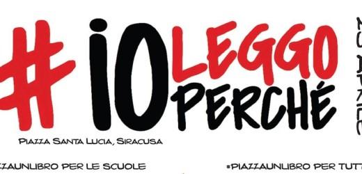 Giovedì 23 aprile festa in Piazza Santa Lucia a Siracusa con #ioleggoperchè e #piazzaunlibro
