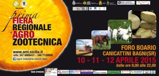 Tutto pronto per la 1° Fiera regionale Agro-Zootecnica del 10-11-12 aprile al Foro Boario di Canicattini Bagni