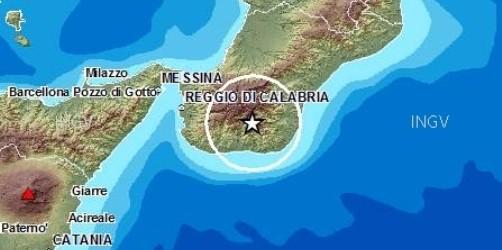 Scossa di terremo questa mattina del 3.8 nell'area dell'Aspromonte avvertita anche nel siracusano