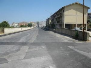 Via Grimaldi, sulla destra le case Iacp