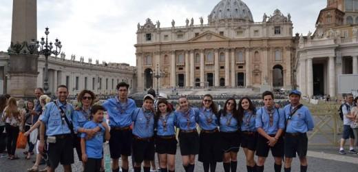 """""""Voi fate ponti, per favore!"""", anche una rappresentanza degli scout del Canicattini 1 ieri a roma all'incontro con Francesco"""