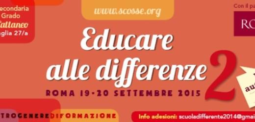 """""""Educare alle Differenze"""", sabato e domenica a Roma per parlare di Gender, tra i promotori anche Stonewall di Siracusa"""
