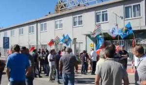 Lo sciopero di ieri nell'area industriale