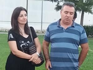 Scaglione con la moglie Daniela
