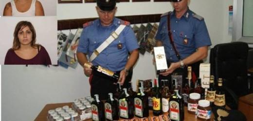 Canicattini Bagni, i controlli dei Carabinieri danno i primi frutti, arrestate due ladre catanesi  con l'auto piena di liquori