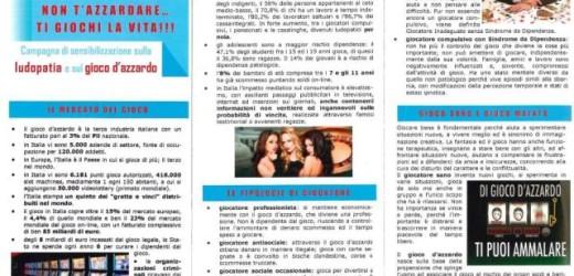 Al via la campagna di prevenzione su ludopatia e gioco d'azzardo messa in campo da Carabinieri, Asp e Sert