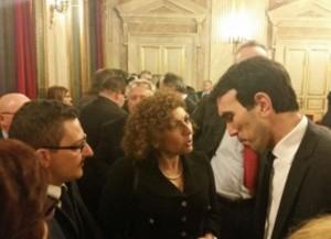 Il sindaco di Pachino con l'on. Giuffrida e il ministro Martina