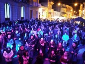 Un momento delle serate in piazza