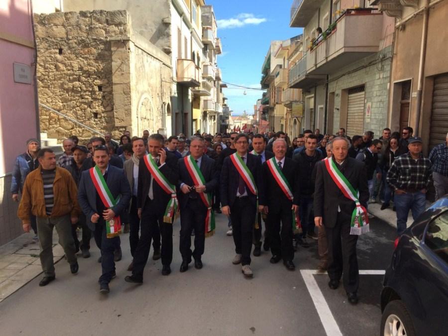 I sindaci in prima fila oggi a Pachino nella manifestazione per rilanciare l'Agricoltura