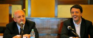 Vincenzo De Luca e Matteo Renzi