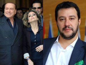 Silvio e Marina Berlusconi - Matteo Salvini