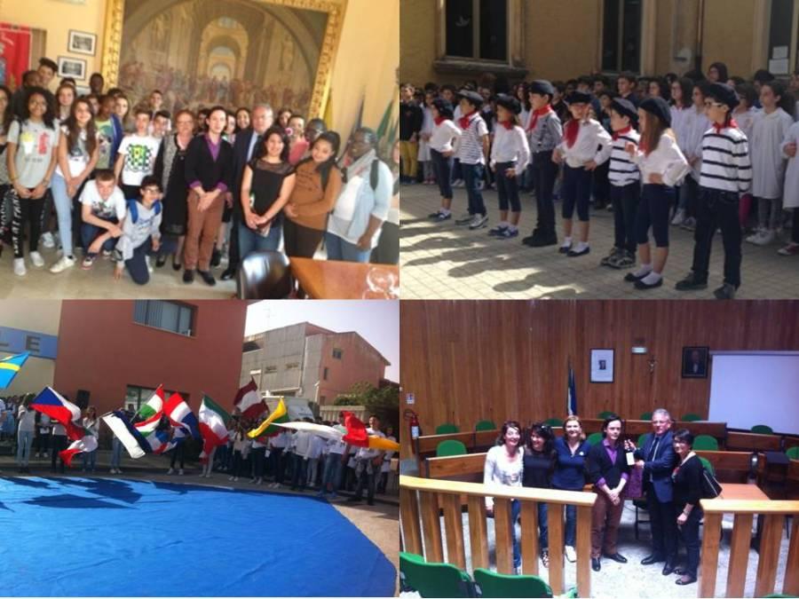 """Scambio culturale tra la Scuola Media di Canicattini Bagni e il Collége francese """"La Rochefoucauld"""" di La Ferté sous Jouarre"""