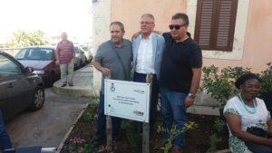 L'assessore Cascone, il sindaco Amenta e Scaglione