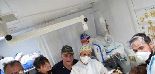 Immigrazione, un fiocco azzurro di speranza ieri sera a bordo del pattugliato Bettica, è nato Francois Manuel