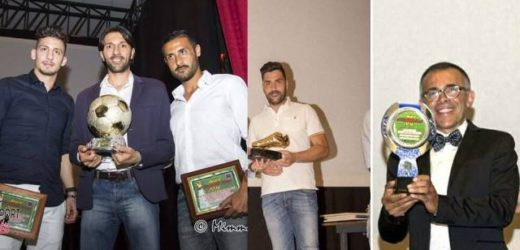 """Anche i palazzolesi Filicetti, Strano e Frassetto agli """"Award of football stars 2016"""" del calcio siciliano"""