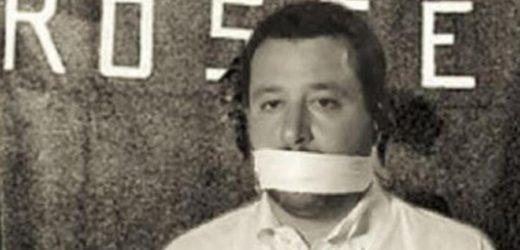 """Quei """"fascisti di fatto"""" che imbavagliano Matteo Salvini"""