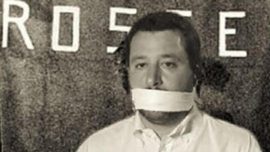 Il fotomontaggio del rapimento di Salvini