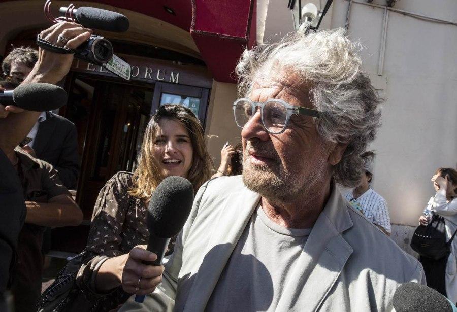 Beppe Grillo,leader del Movimento 5 Stelle