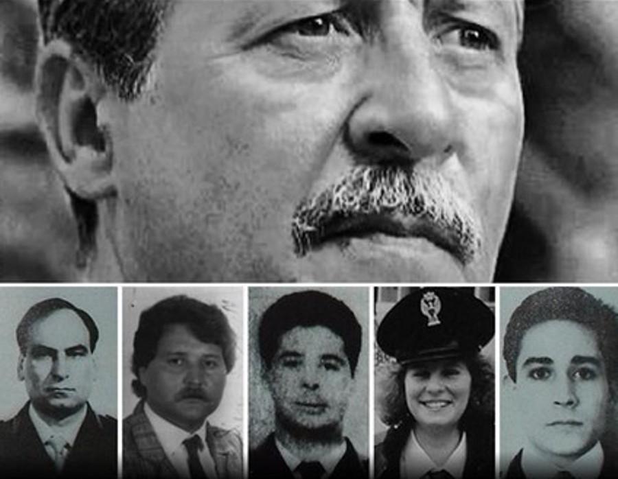 Paolo Borsellino e gli agenti della sua scorta uccisi in via D'Amelio