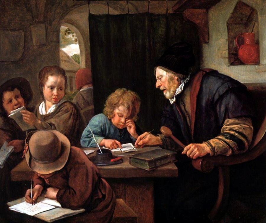"""""""Il Maestro grave"""" di Jan Steen (1668)"""