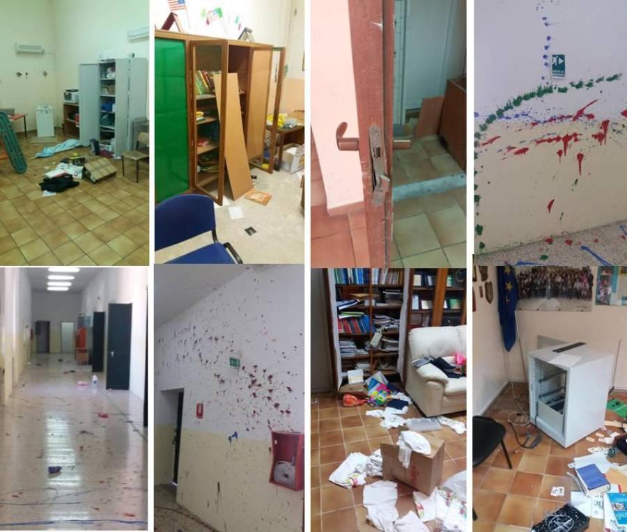 Com'era la scuola di Francofonte dopo il raid vandalico
