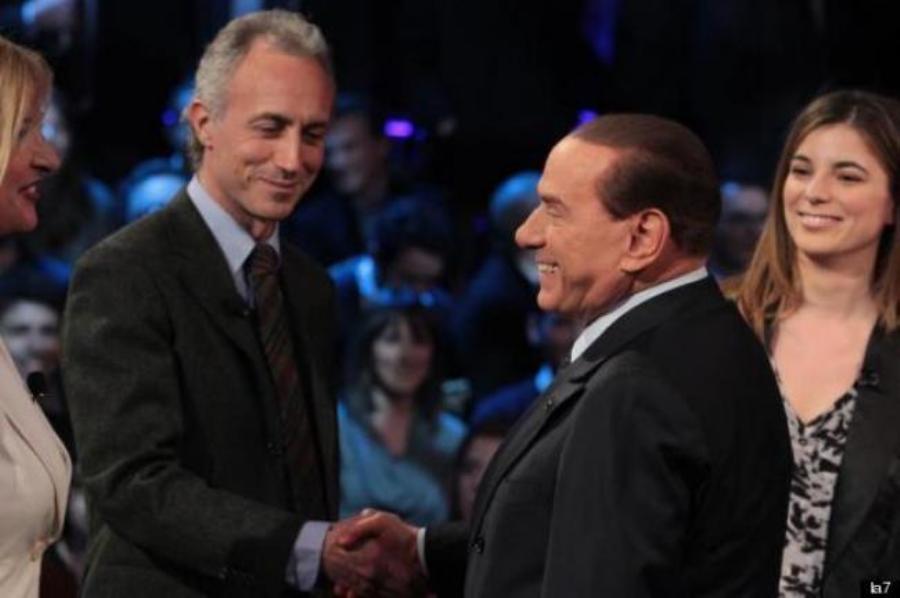 Marco Travaglio e Silvio Berlusconi