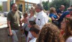 Tony con la moglie, i figli e il sindaco Amenta
