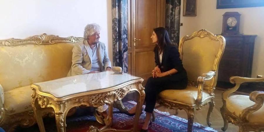 Beppe grillo e il sindaco di Roma, Virginia Raggi