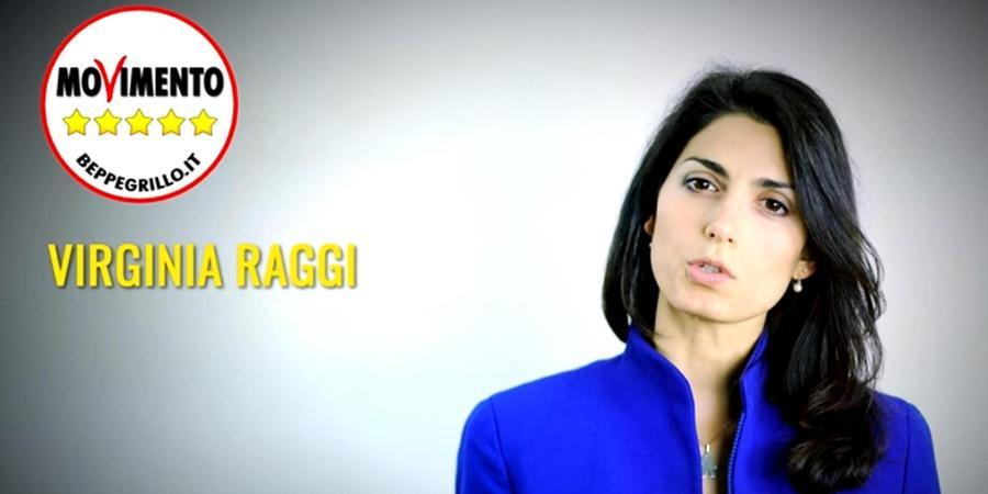 Il sindaco di Roma, Virginia Raggi