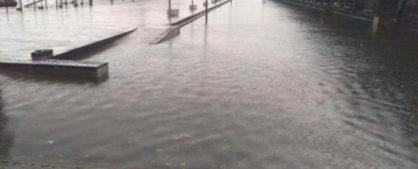 La Marina allagata, una delle tante foto pubblicate dai cittadini su Facebook