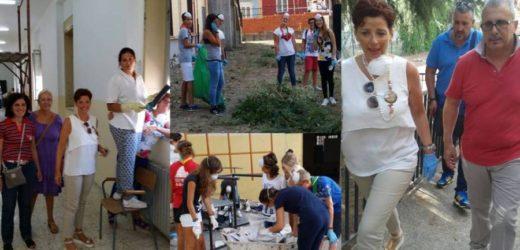 La Francofonte dell'impegno civile si alza le maniche per ridare vita alla scuola di via Europa presa di mira dai vandali