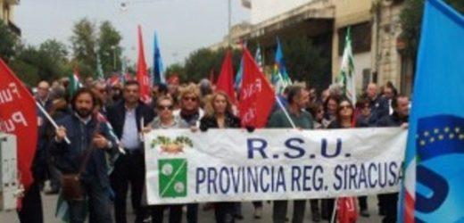 Oggi mobilitazione dei dipendenti dell'ex Provincia e di Siracusa Risorse da mesi senza stipendi