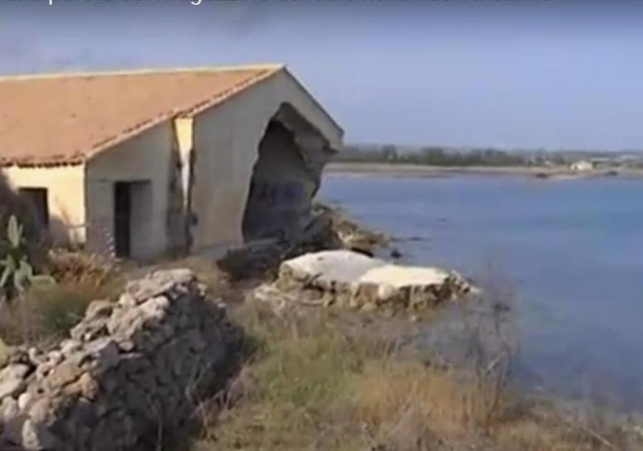 """Riserva Saline, visibile la parte crollata del """"magazzino del sale"""""""