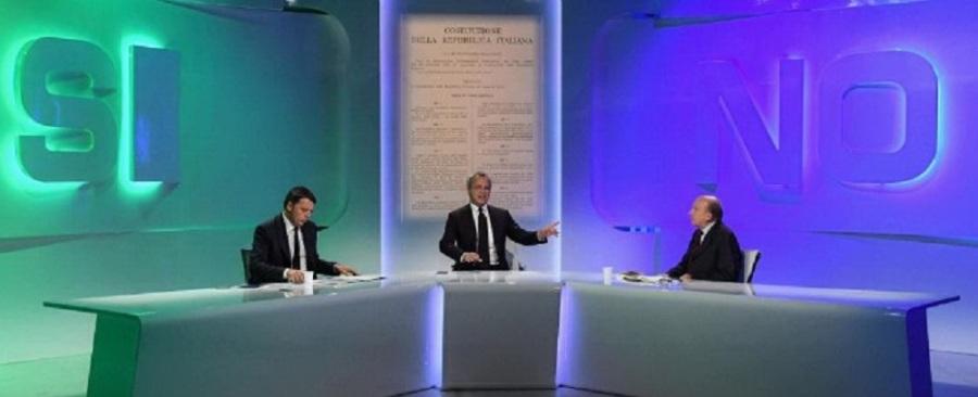Matteo Renzi e Gustavo Zagrebelsky ad un confronto da Enrico Mentana