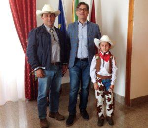 Runza padre e figlio col sindaco Calvo