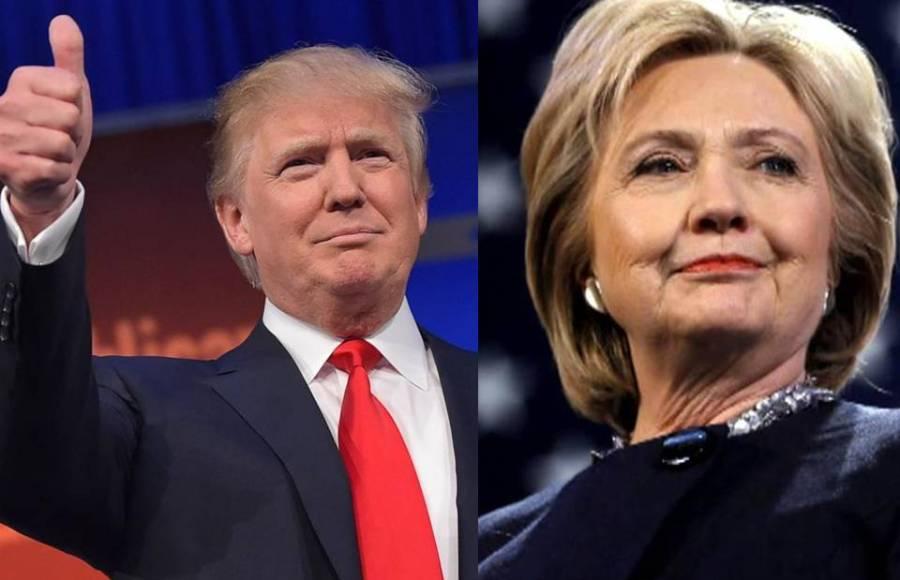 Il nuovo presidente eletto degli Stati Uniti, Donald Trump, e la sfidante Hillary Clinton