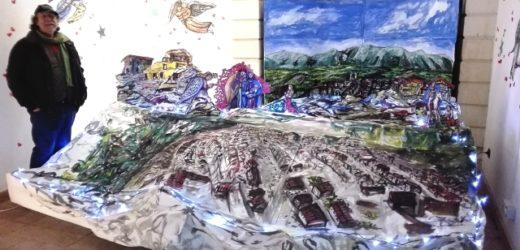 Canicattini, un presepe di Sergio Carpinteri ricorda e riporta il cuore ad Amatrice, la cittadina rasa al suolo dal terremoto