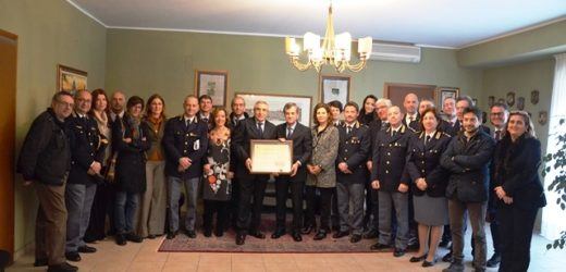Il prefetto Gradone in visita alla Questura di Siracusa per il saluto di commiato dopo il trasferimento a Siena