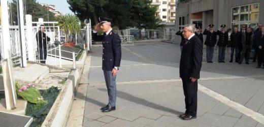 Il saluto del questore Mario Caggegi alla Polizia prima del trasferimento a Roma al Ministero dell'Interno