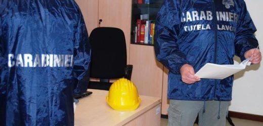 Emersione del lavoro nero e prevenzione degli infortuni, controlli dei Carabinieri a Palazzolo, Carlentini e Sortino