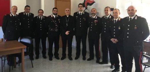 Visita del vescovo di Noto mons Antonio Staglianò alla caserma dei Carabinieri di Pachino