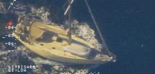 Cattura in alto mare da parte della Guardia di Finanza del veliero autore dello sbarco di 21 migranti a Vendicari