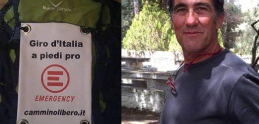 Un viaggio a piedi per sostenere le attività umanitarie di Emergency, sarà domani a Siracusa Roberto Gorini