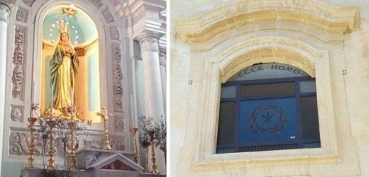 Inaugurata a Canicattini la nicchia dedicata all'Immacolata Concezione e le due vetrate artistiche donate alla Chiesa Madre